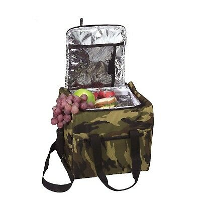 2308 Rothco Large Woodland Camo Insulated Bag Cooler Lunch Box