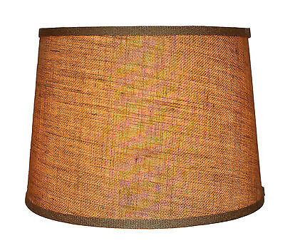 """Urbanest Burlap French Drum Style Lamp Shade 10x12x8.5"""" Lampshade Spider Fitter"""