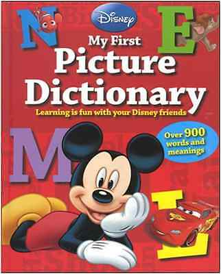 Disney Mickey My First Picture Dictionary Educational Hardback Book Brand New