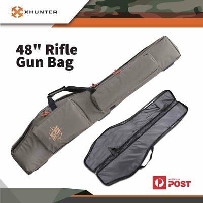 "Rifle Bag Molle Shotgun Thick Padded 48"" 600D Cordura Hunting Shooting Gun Case"