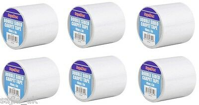 6x SupaDec Double Sided Heavy Duty Carpet Rug Tape Roll Adhesive - 48mm x 5m
