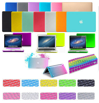 Colors Matt Rubberized Hard Case Keyboard Cover For Macbook Air 11'' 13'' 15 Pro