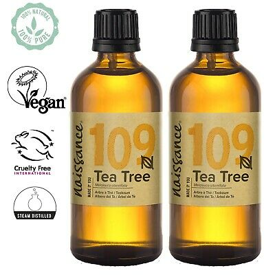 Tea Tree Essential Oil 200ml (2 x 100ml) by Naissance