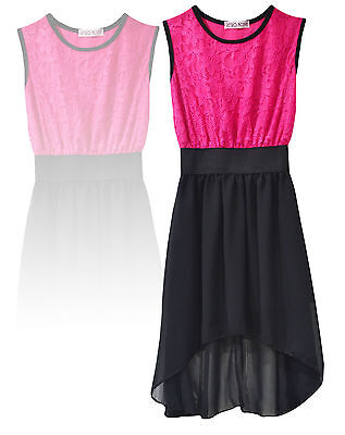 New Kid's/Girl's Casual Party Wear Long Back Flared Skater Dress