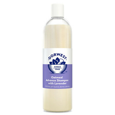 Dorwest Herbs Veterinary Oatmeal Advance Dog Cat Shampoo 500ml Hypoallergenic