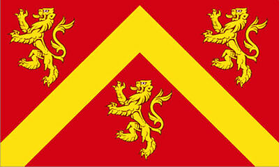 5' x 3' Isle of Anglesey Flag Old Medieval Lion Wales Welsh County Banner