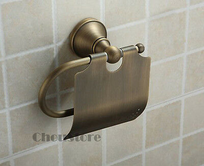 Bathroom Toilet Paper Holder Antique Bronze Wall Mounted Paper Roll Holdes C21F