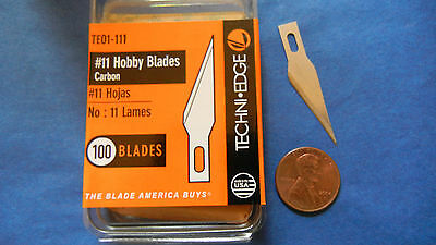 #11 No 11 BLADE craft hobby carving X-acto fit 100 bulk TE01-111 TECHNI EDGE USA