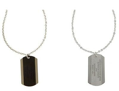 New Armani Exchange AX Mens Logo Patch Dogtag Necklace