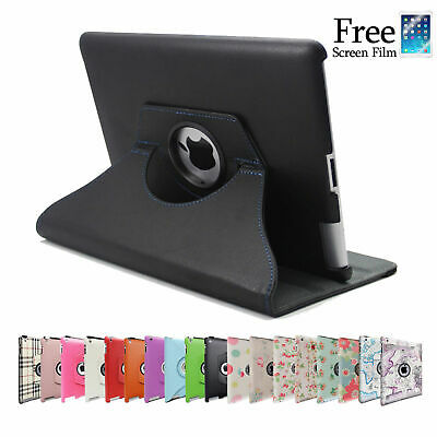 360 Rotating Leather Smart Cover Case for iPad 6th Gen iPad 5 4 3 2 Air mini