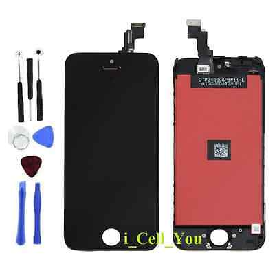 For iPhone 5C Black LCD Lens Touch Screen Display Digitizer Assembly Replacement