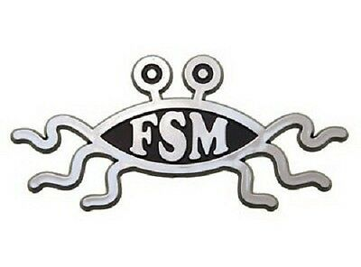Flying Spaghetti Monster Raised Chrome-Like Finish Car Emblem FSM Pastafarian