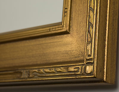 "PICTURE FRAME WOOD GOLD CARVED 3.75"" WIDE ART CANVAS PHOTO MANY SIZES AVAILABLE!"