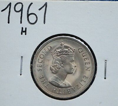 1961 H Malaya 20 Cents MS BU Coin