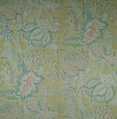 OSBORNE & LITTLE Linen Floral Fruit Palms Rust Teal Gold New 2 yard+