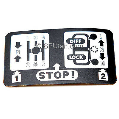 Land Rover Discovery Defender Transfer Case Low Gear Decal Sticker MANUAL STICK