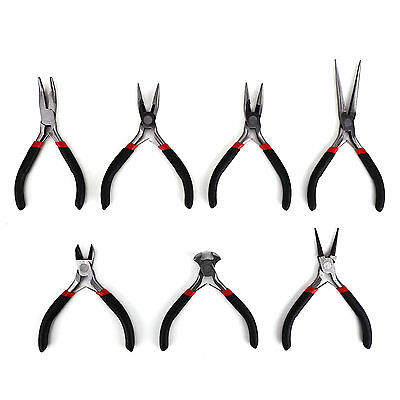 Mini Jewellery Making Beading Tool Set - Wire Cutter / Round & Flat Nose Pliers