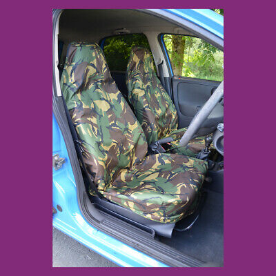 Green DPM Camouflage Camo Waterproof Car/Van Front Universal Seat Covers UKMade