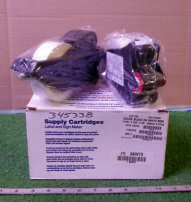 NEW BRADY 3AW70 BLACK on WHITE VINYL FILM LABEL CARTRIDGES 2-pk***MAKE OFFER***