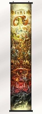 "the legend of zelda 25th anniversary Fabric poster with wall scroll 71""x13"""