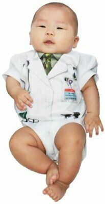 Infant Baby Boy's Faux Ouchie Specialist Doctor Physician Costume  Romper