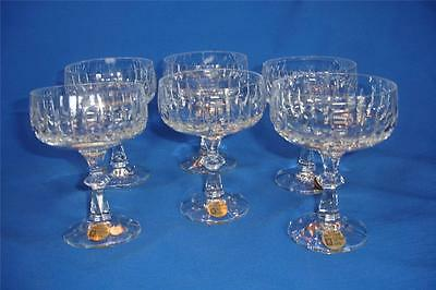 Set 6 Echt Bleikristall Germany Crystal Tango Sparkling Wine Glasses Champagne