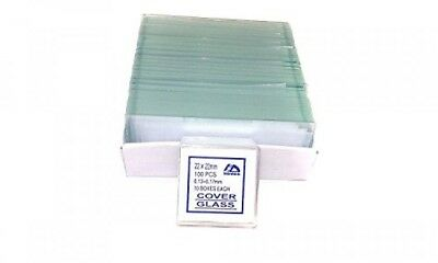 72 Blank Microscope Slides with 100 Square Cover Glass, New, Free Shipping