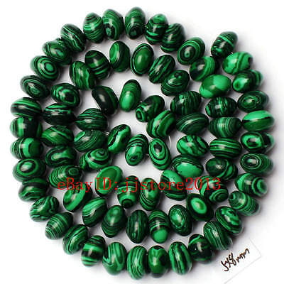 5x8mm Imitation Green Malachite Rondelle Shape Gemstone Loose Beads Strand 15""