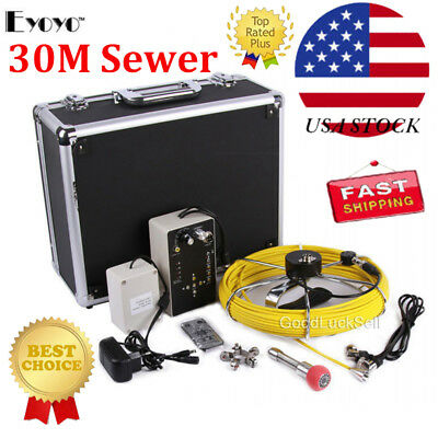 "7"" Color LCD 30m Sewer Waterproof Camera Pipe Pipeline Drain Inspection System A"
