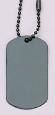 Dog Tag  Stainless Steel Matte Black 8393 Rothco