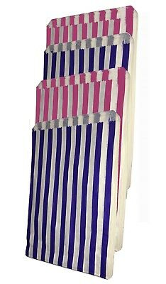 Coloured Candy Stripe Paper Bags Sweet Food Buffet Gift Shop Kraft Party Bags