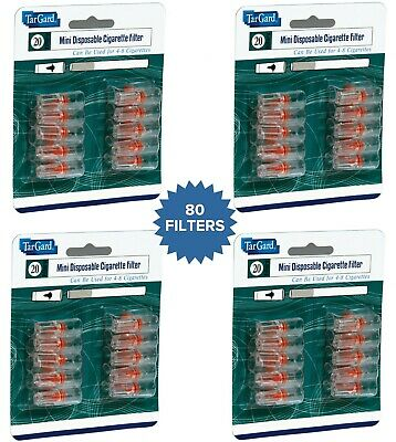 80 Disposable Cigarette Filters/Holders Reduce TAR (4 Packs x 20 = 80 Filters)
