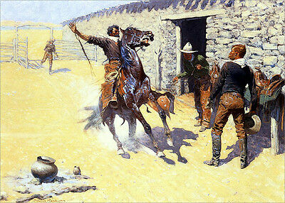 Howl of the Weather  by Frederic Remington   Giclee Canvas Print Repro