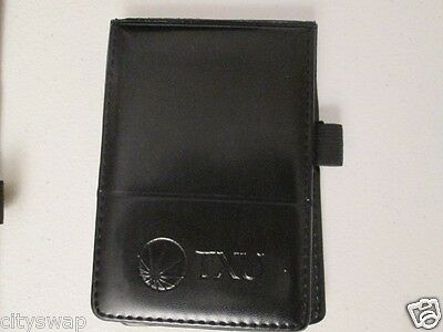 Black Note Pad 3x5 with Pad of Paper & Pen Holder LEED'S TXU Jotter Notepad