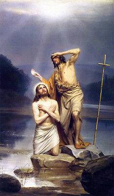 The Baptism of Christ  by Carl Bloch   Giclee Canvas Print Repro