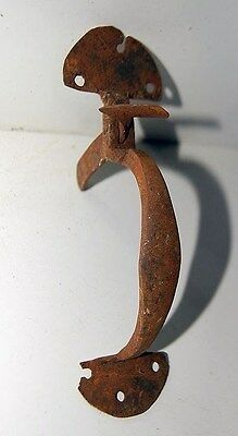 Antique 1800s Wrought Iron Suffolk Bean Style Thumb Latch
