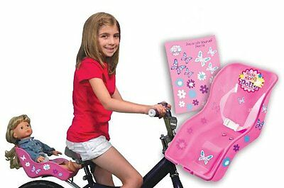 Doll Bicycle Seat - Ride Along Dolly - Bike Seat with Decorate Yourself Decals