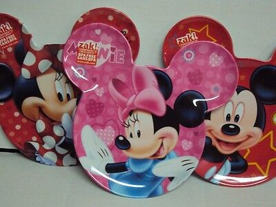 Disney Zak! Minnie Mouse Ear-Shaped Melamine Baby / Toddler Plate New