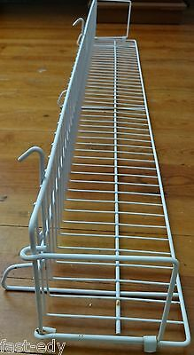 White Wire Rack Hanging Shelves Retail Trade Show Commercial For Grid Panel