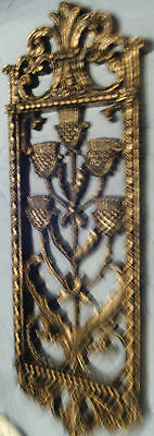 Pair of Vintage HOMCO Wall Hangings Black & Gold Faux Knight Colors
