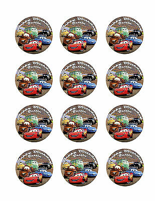 CARS Personalized Edible CUPCAKE Decoration Toppers Icing Image McQueen