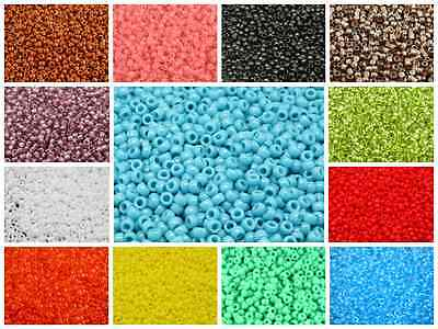 CHOOSE COLOR! 10g 7/0 (3.5mm) MATUBO Seed Beads Czech Glass