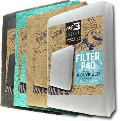 "NEW 10"" x 18"" Carbon / Ammonia / Phosphate / Polyfiber Aquarium Filter Media Pad"