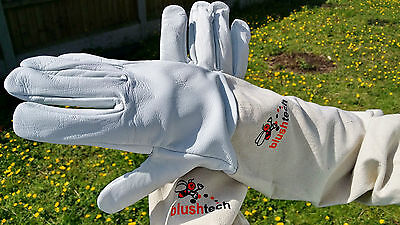 Beekeeper Beekeeping Bee gloves 100% Leather & Cotton Zean gloves Pair UK Seller