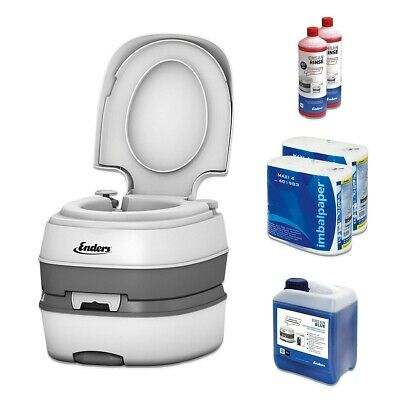 Enders Campingtoilette 4994 DELUXE mobile Chemietoilette Reiseklo WC Set BLUE XL