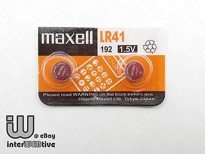 2 Pieces New in Package Maxell 192 LR41 AG3 Coin Cell Battery 1.5V EXP 2016