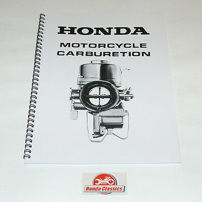 Honda Carburettor Set Up Instruction Manual, Reproduction. HWM006