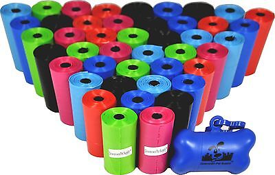 Dog Poop Bags for Pet Waste, Bulk Poop Bags on a Roll, (Variety Sizes & Colors)