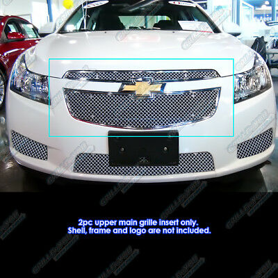 APS 2011-2013 Chevy Cruze Stainless Steel X Mesh Blitz Grille Grill Insert 2012