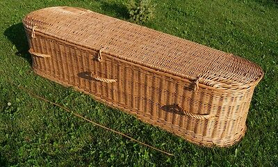 PREMIUM WICKER / WILLOW (Real / Willow / Full Size / Funeral Casket) COFFIN #1